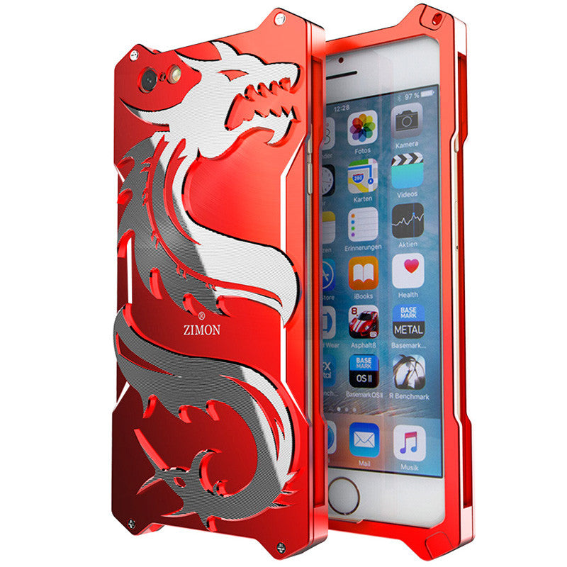 SIMON Dragon Aerospace Aluminum Alloy Shockproof Armor Metal Case Cover