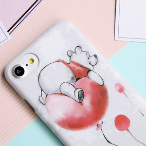 Disney Winnie-the-Pooh Ink Wash Painting Matte Hard PC Cover Case for Apple iPhone 8 Plus/7 Plus/7