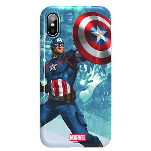 X-Doria Super Series Marvel Avengers Blue Coating Soft TPU Case Cover for Apple iPhone XS/X