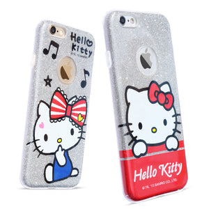 X-Doria Hello Kitty Twinkle Glitter Slim TPU Frame Sparkle PC Cover Case for Apple iPhone
