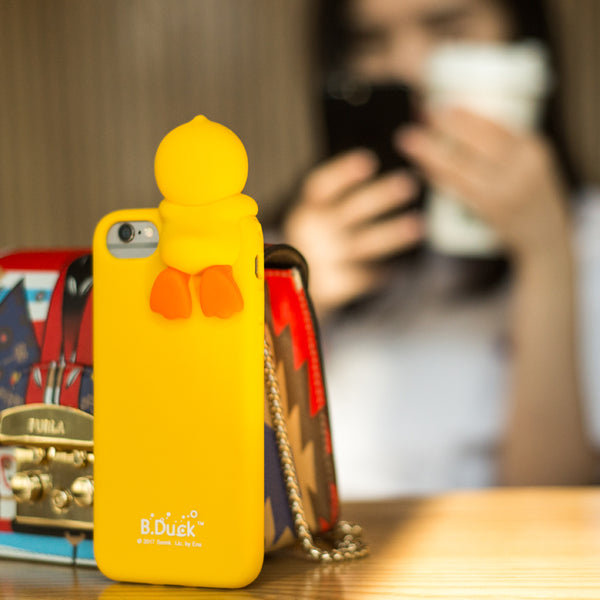 SAILI B.Duck Buffy Silicone Back Cover Case for Apple iPhone