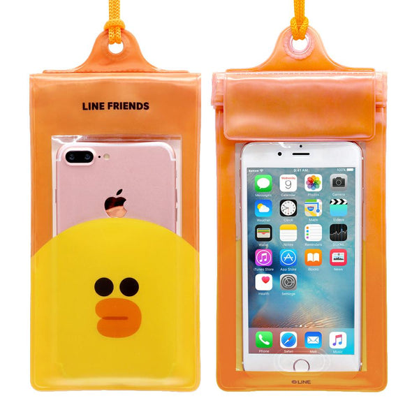 GARMMA Line Friends Universal Waterproof Pouch Phone Case Water Repelling Bag