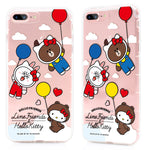 GARMMA Hello Kitty & Line Friends Air Cushion Soft Back Cover Case for Apple iPhone