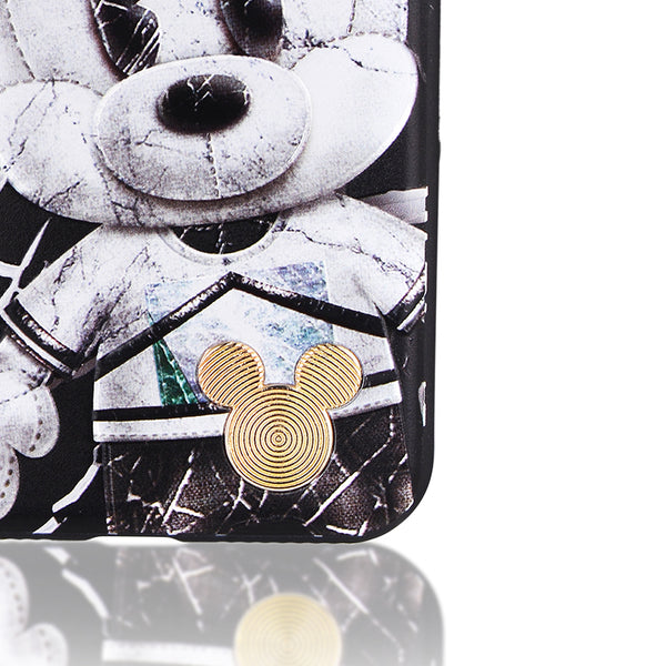 JURE Disney Mickey & Minnie Hard PC Cover Case w/ Metal Bezel for Apple iPhone