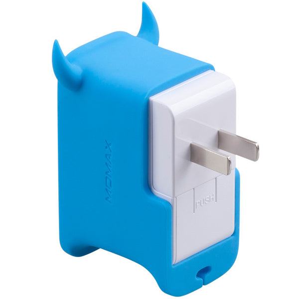 MOMAX U.Bull AutoMax Ultra Fast 2-port USB Charger for Smartphone & Tablet