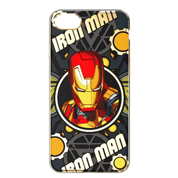 MEKI Marvel Avengers Electroplating 3D Color Hard PC Case Cover for Apple iPhone 8 Plus/7 Plus/8/6S