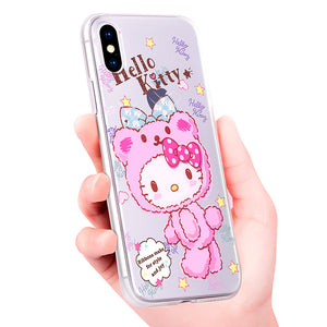 X-Doria Hello Kitty Nifty Bear Swarovski Diamonds Case Cover for Apple iPhone XS/X