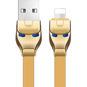 HOCO U14 Steel Man 2.4A Fast Charging Lightning / Type-C / Micro USB Cable