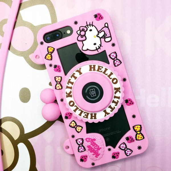 7ce1189d9 Hello Kitty Camera Bluetooth Self Timer 3D Silicone Shockproof Case Cover  with Carrying Strap