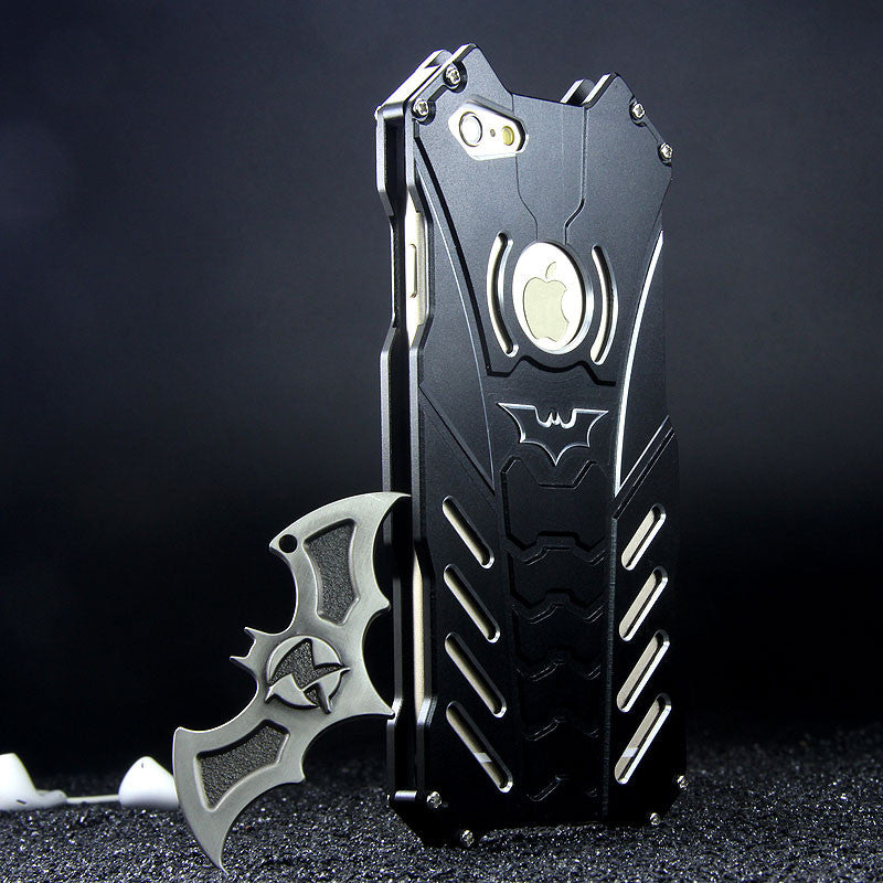R-Just Batman Shockproof Aluminum Shell Metal Case with Custom Stent - Armor King Case