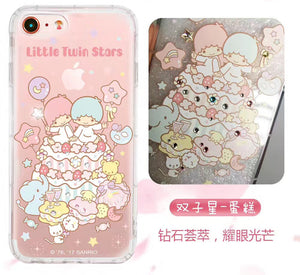 apbs Hello Kitty & My Melody & Little Twin Stars Air Cushion Diamonds TPU Cover Case