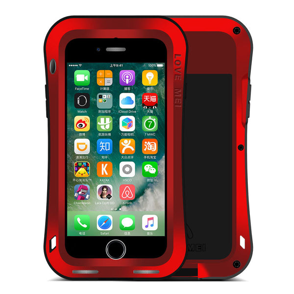 LOVE MEI Powerful Shockproof Metal Heavy Duty Case Cover for Apple iPhone iPad