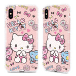 GARMMA Hello Kitty & My Melody & Little Twin Stars Bling Diamonds Air Cushion Soft Back Cover Case