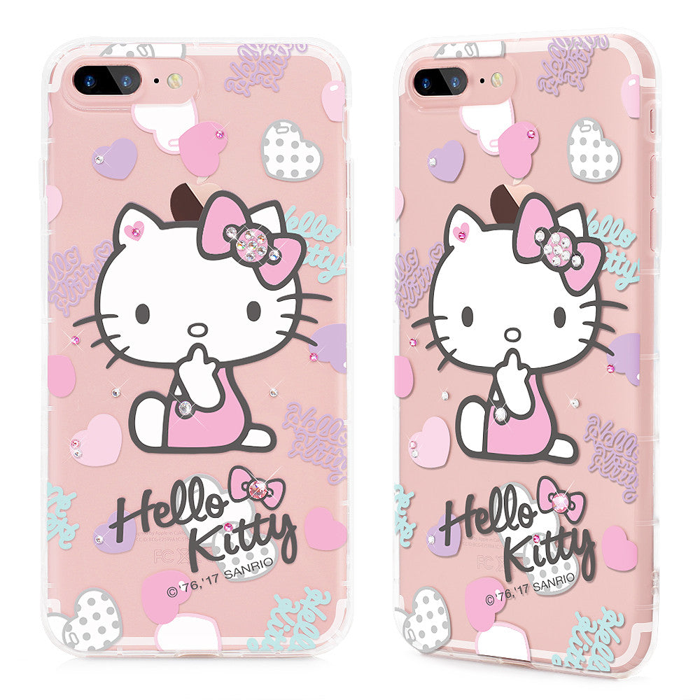 GARMMA Hello Kitty & My Melody & Little Twin Stars Bling Crystal Diamonds Soft Back Cover Case