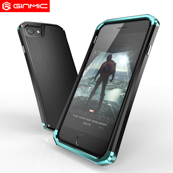 GINMIC Solace LX Aluminum Metal Frame Hard PC Back Cover Case for iPhone 7 Plus/7