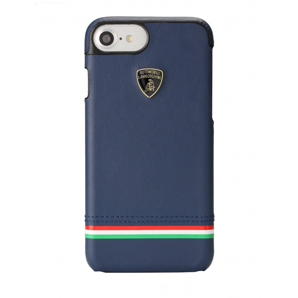 Automobili Lamborghini Tricolore D8 Genuine Leather Ultra Slim Back Case Cover