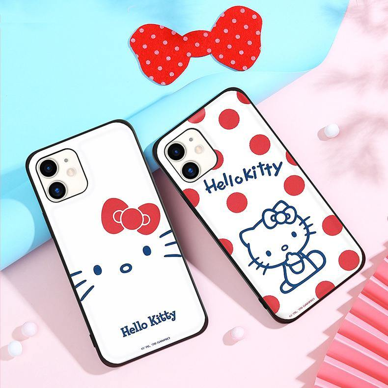 UKA Hello Kitty Skin Feel TPU+Leather Back Case Cover - Armor King Case