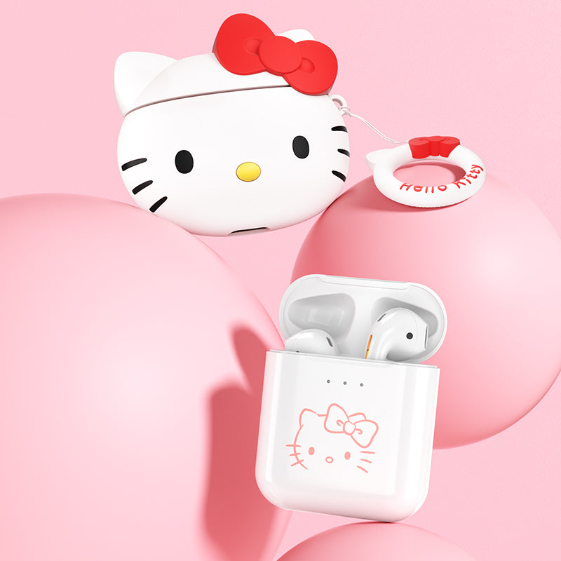 UKA Hello Kitty True Wireless Stereo Headset Bluetooth Earphone with Silicone Case