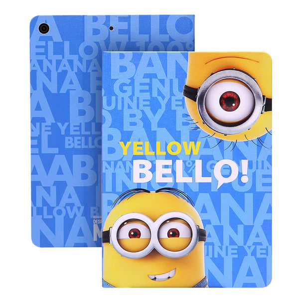 UKA Minions Despicable Me Auto Sleep Folio Stand Leather Case Cover for Apple iPad