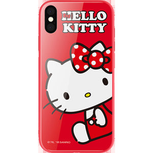 UKA Hello Kitty Tempered Glass Back Case for Apple iPhone