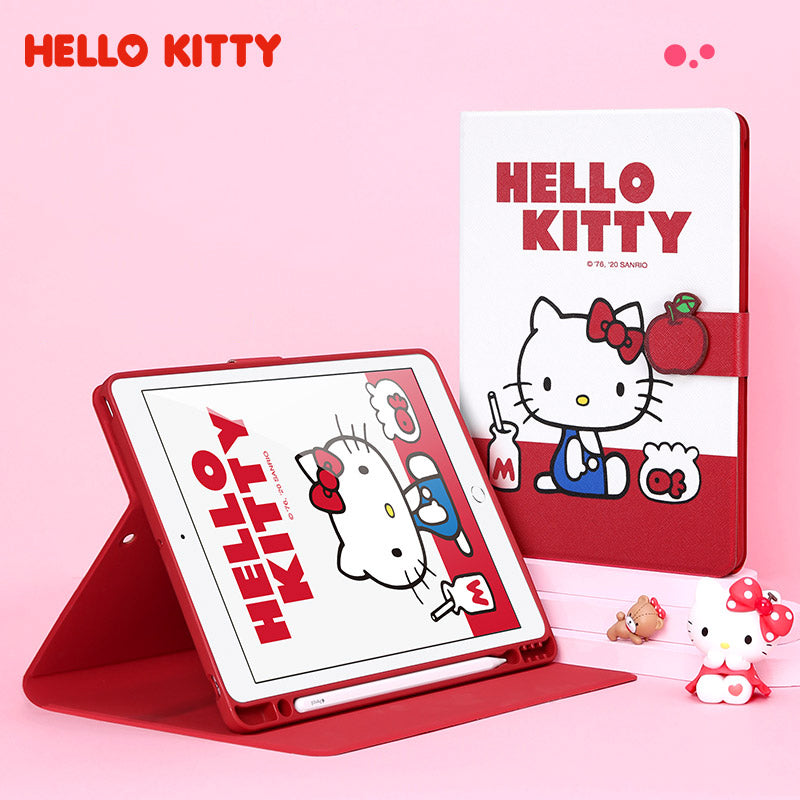 UKA Sanrio Characters Auto Sleep Folio Stand Leather Case with Pen Tray for Apple iPad