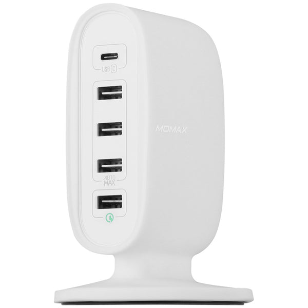 MOMAX U.Bull 5-USB Charging Station AutoMax Ultra Fast Type-C + QC 3.0 Charger