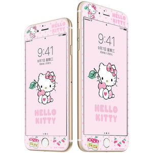 UKA Hello Kitty Scratch Resistant 9H Hardness Colorful Tempered Glass Screen Protector