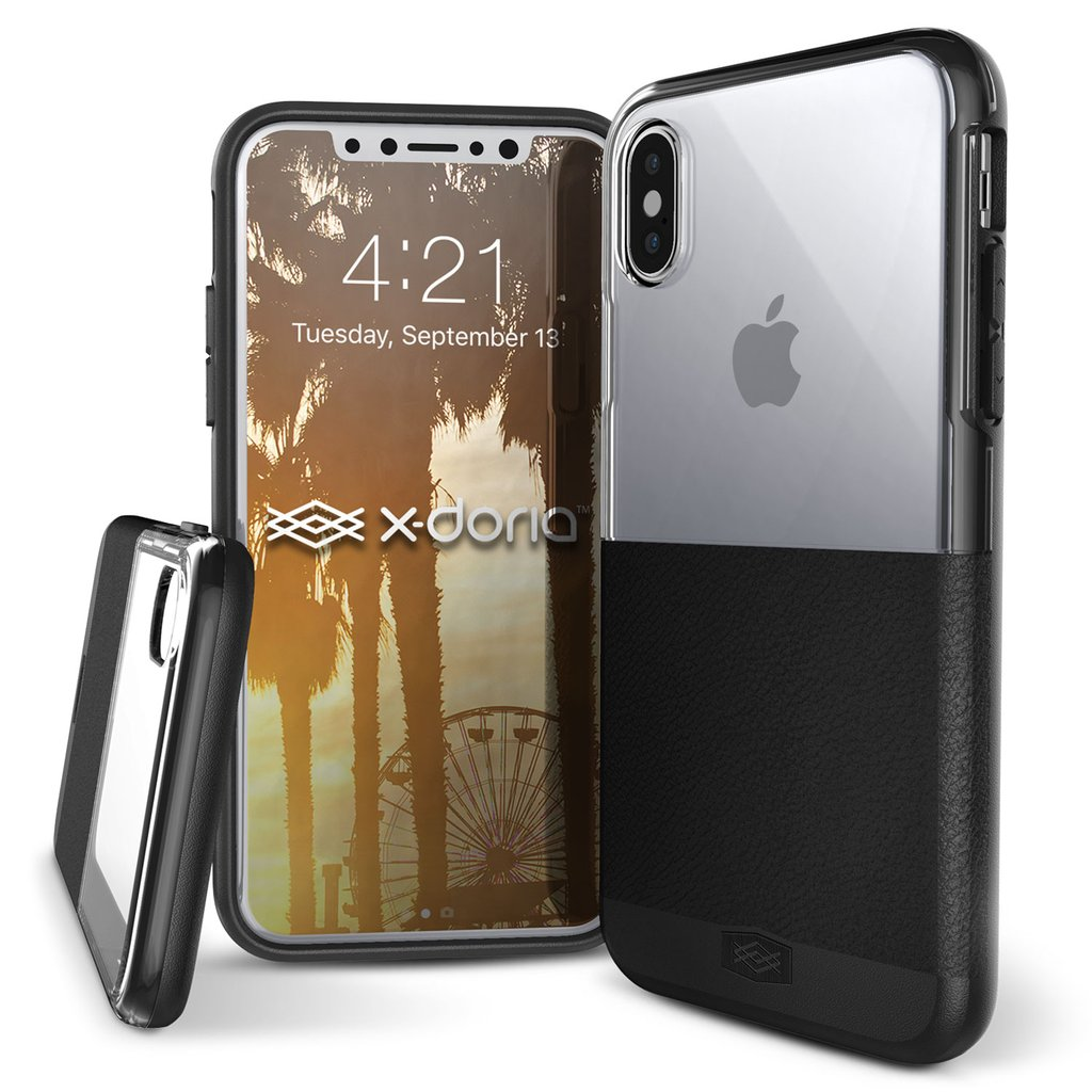 X-Doria Dash Faux Leather Clear PC Case Cover for Apple iPhone