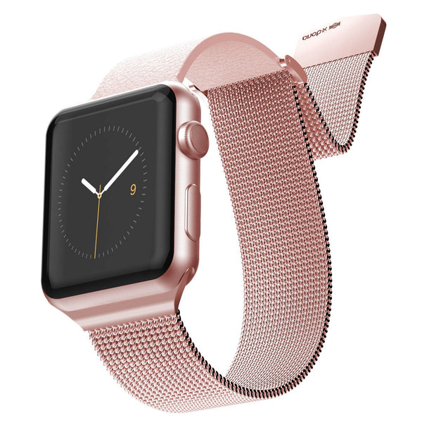 X-Doria Hybrid Mesh Genuine Leather + Stainless Steel Band for 44mm/40mm/42mm/38mm Apple Watch