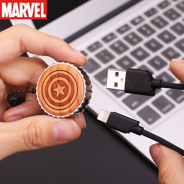 X-Doria Marvel Avengers Wood Bezel Lighting Cable for Apple iPhone iPad iPod
