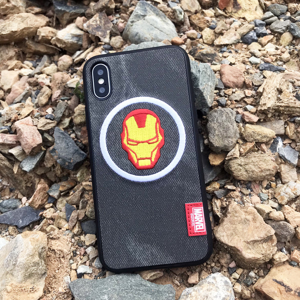 X-Doria Pilot Series Marvel Avengers Denim 3D Embroidery Case Cover for Apple iPhone