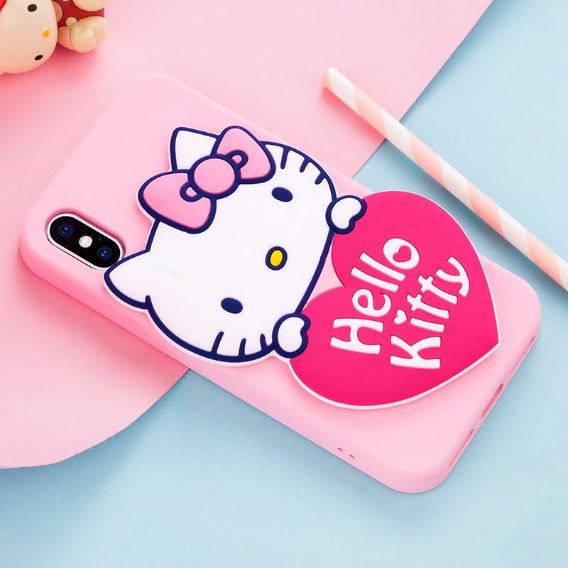 X-Doria Pudding Hello Kitty & My Melody Mirror Shockproof Silicone Case Cover for Apple iPhone XS/X