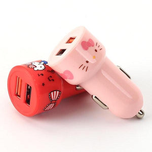 X-Doria Simple Series Hello Kitty Dual Ports Universal Smart USB Car Charger