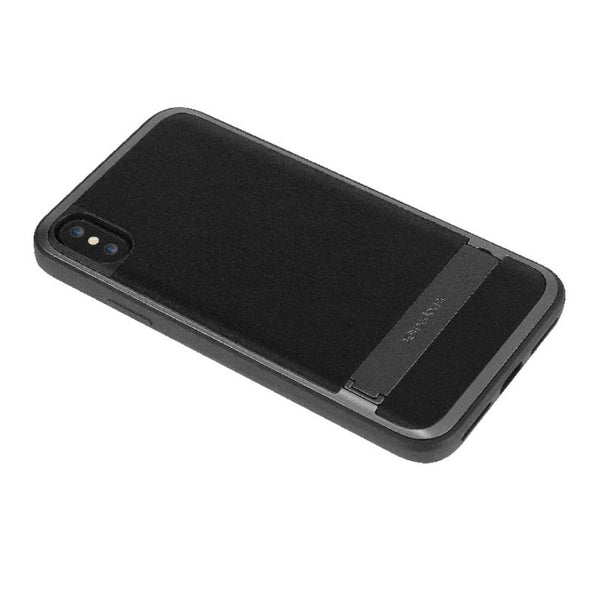 X-Doria Stander Aluminum Frame Hidden Stand Leather Protective Case for Apple iPhone XS/X