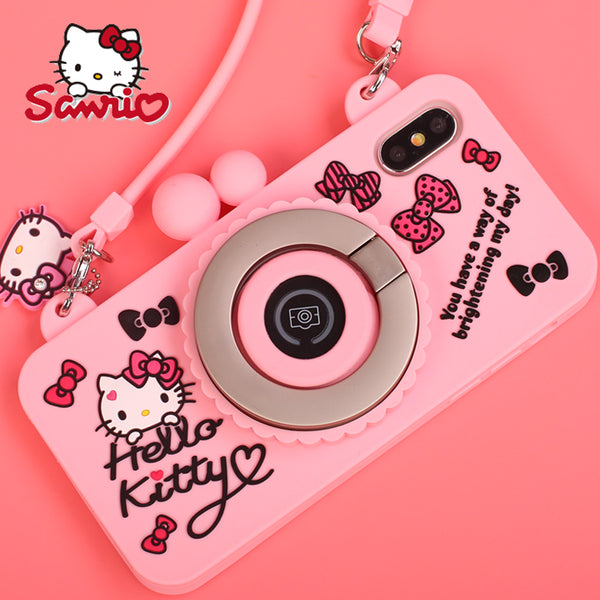 X-Doria Wit Hello Kitty Camera Bluetooth Self Timer 3D Silicone Shockproof Case for Apple iPhone XS/X