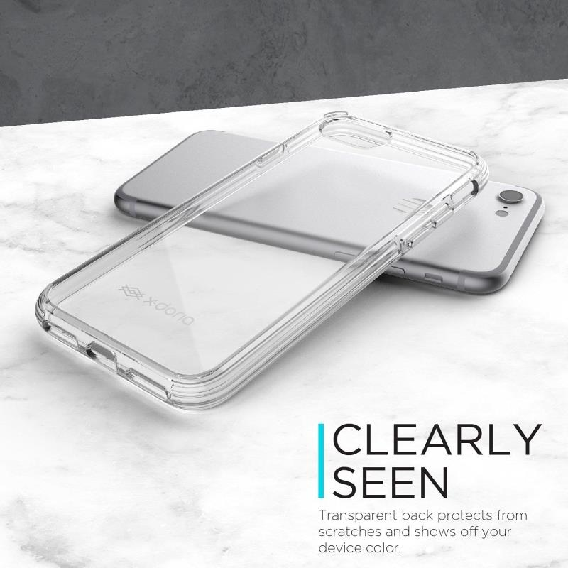 X-Doria ClearVue Translucent Crystal Clear Shock-Absorbing Back Case Cover
