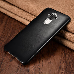 XOOMZ Business Style Handmade Genuine Lambskin Leather Back Cover Case