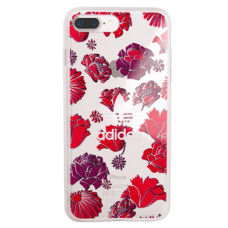 adidas Originals Bohemian Red Clear Back Case Cover for Apple iPhone 8 Plus/7 Plus - Armor King Case