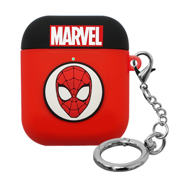 ASCAR Marvel Avengers Shockproof Apple AirPods Silicone Hang Case with Portable Holder
