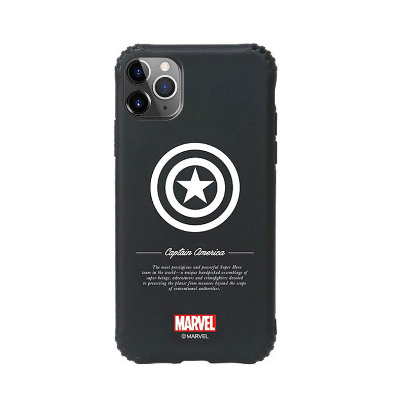 ASCAR Marvel Avengers Liquid Silicone Black Armour Jelly Case Cover