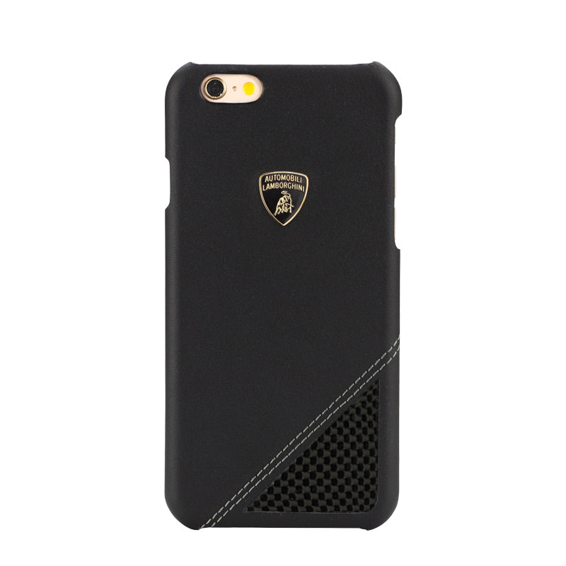 Automobili Lamborghini Aventador-D6 Carbon Fiber Genuine Leather Cover Case