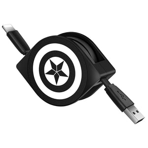 UKA Marvel Avengers 1M Extracted Extension Apple Lightning Cable for iPhone iPad iPod