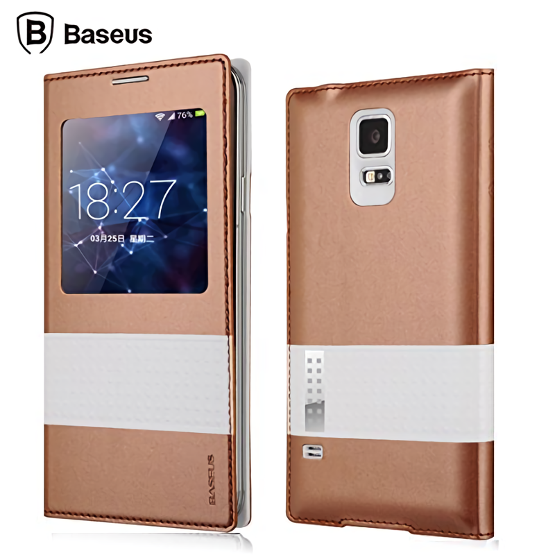 BASEUS View Window Folio Leather Unique Case for Samsung Galaxy S5 - Armor King Case