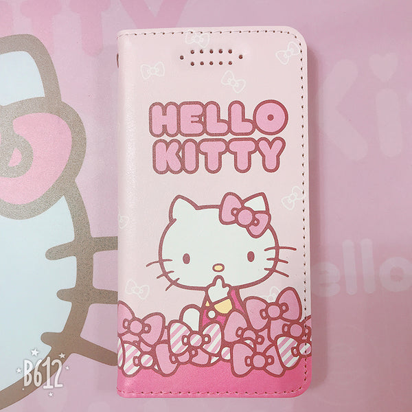 X-Doria Hello Kitty & Little Twin Stars Folio Stand Wallet Case w/ Card Slots for iPhone X/8 Plus/7 Plus