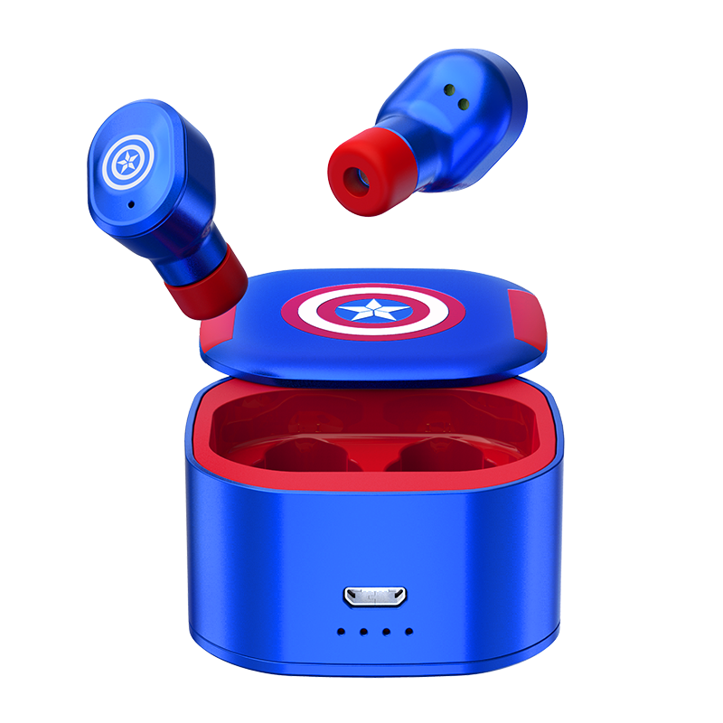 Disney Marvel Avengers Assemble True Wireless Stereo Earbuds Bluetooth 5.0 Mini In-Ear Headphones
