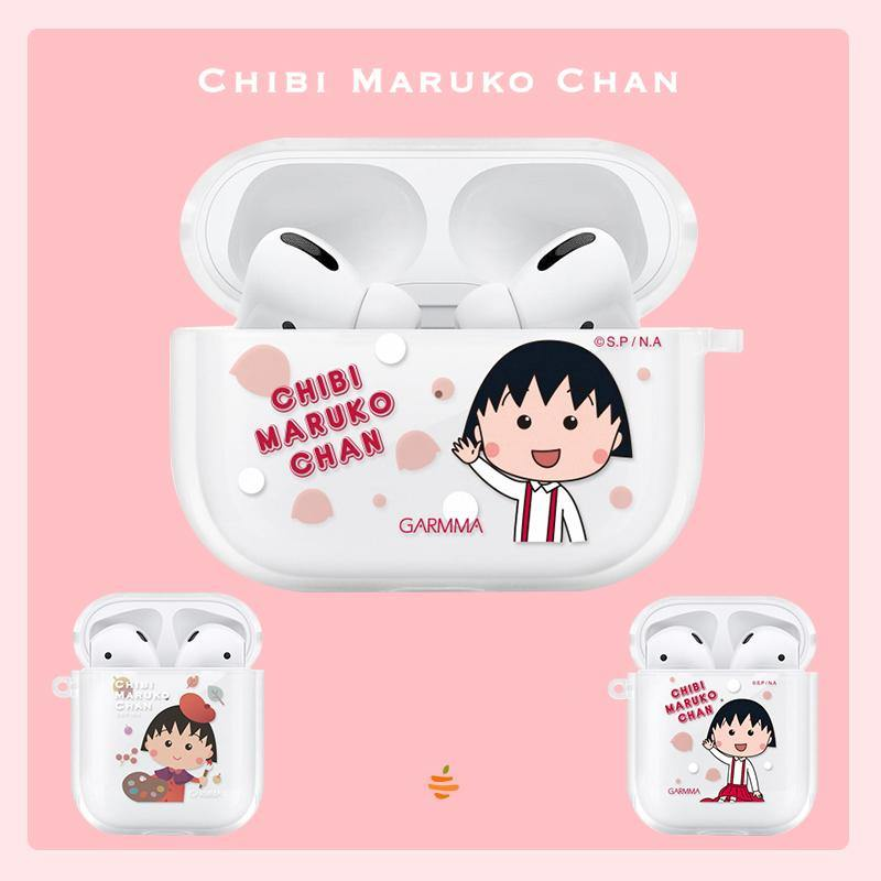 GARMMA Chibi Maruko-chan  Soft TPU Apple AirPods Pro & 2/1 Charging Case Cover