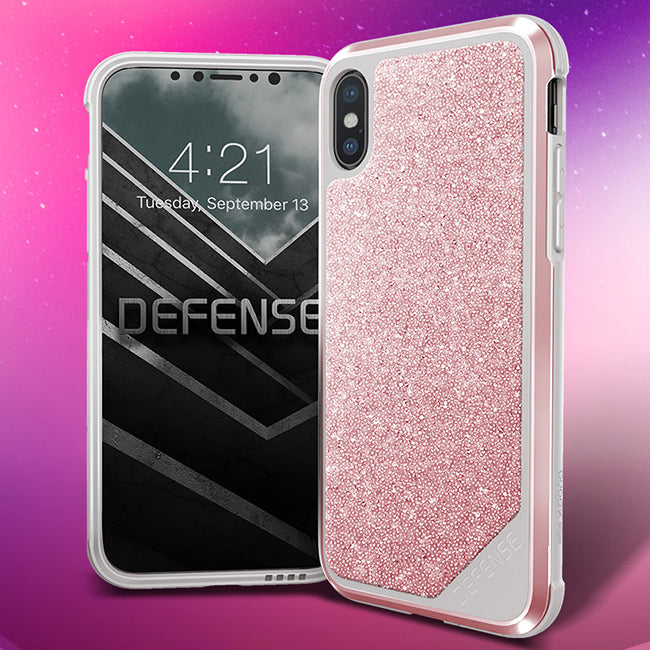 X-Doria Defense Lux Crystal Military Grade Tested Aluminum Metal Protective Case for Apple iPhone