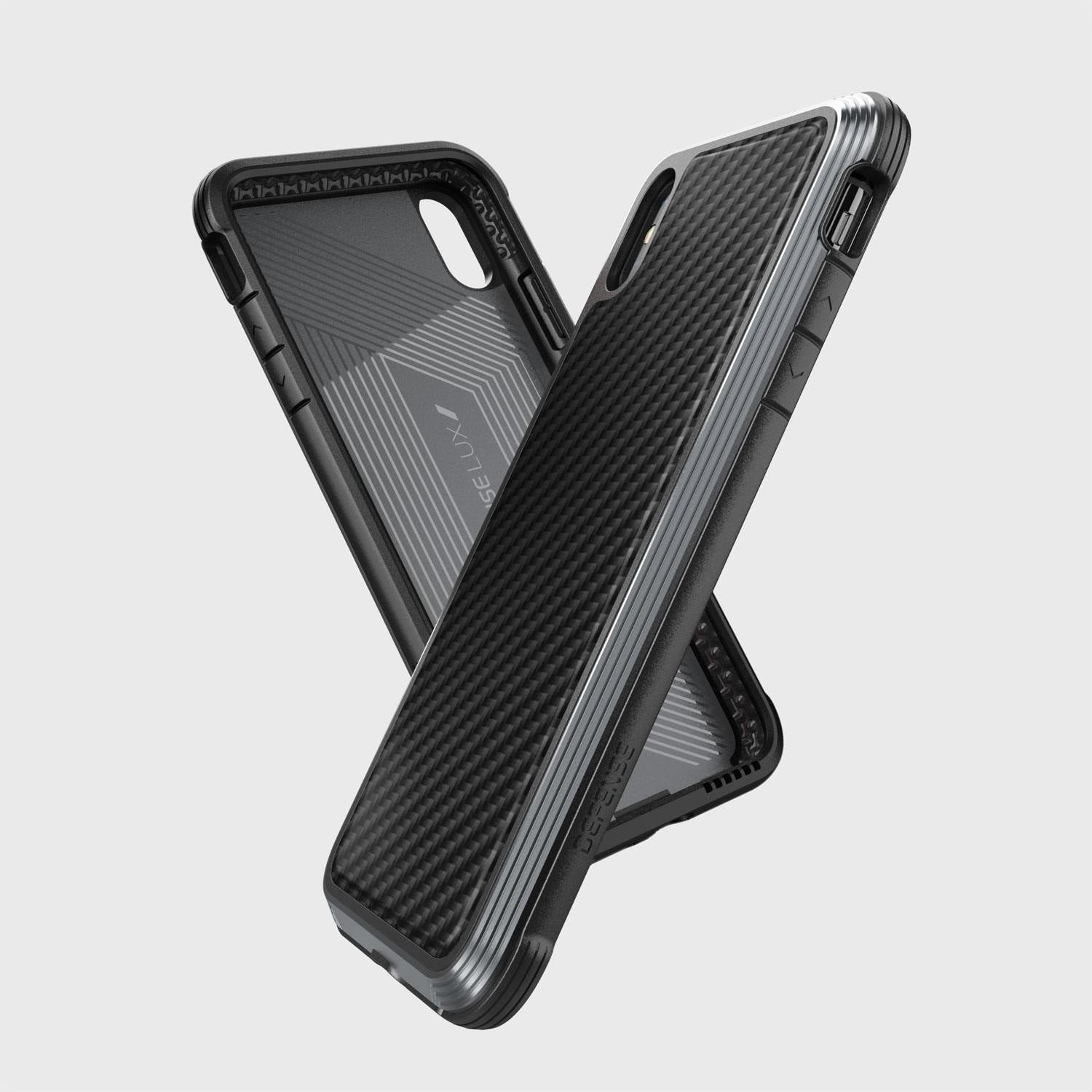 X-Doria Defense Lux Case Cover for Apple iPhone XS Max - Black Carbon Fiber - Armor King Case