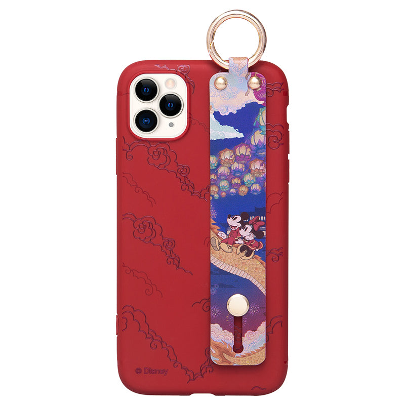 UKA Disney Mickey Mouse Adjustable Wrist Strap Kickstand Case Cover