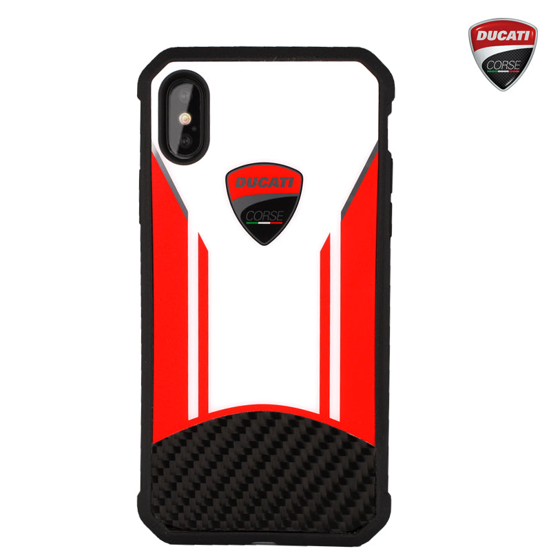 Ducati Corse Superleggera D1 Carbon Fiber Hard Back Cover Case for Apple iPhone